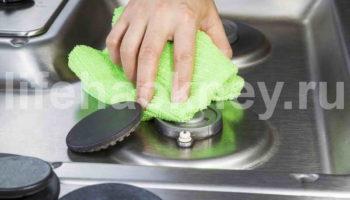 Как отчистить плиту так, чтобы она блестела