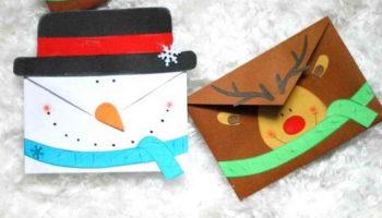 Как сделать новогодний конверт своими руками: мастер-класс