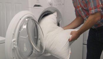 Стирка подушек в стиральной машине