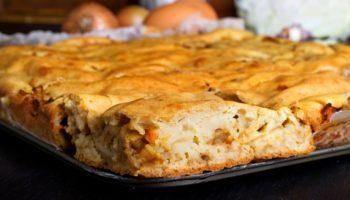 Готовим нежный пирог с капустой и мясом